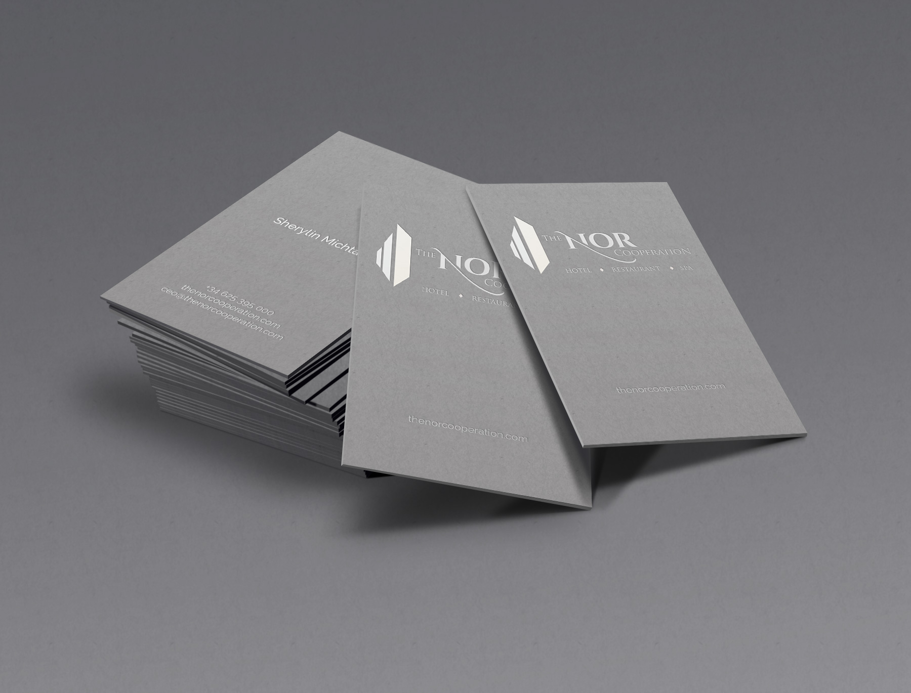 nor business card design artasce creative
